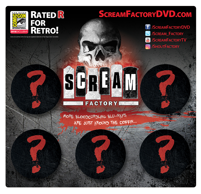 Scream Factory Button Pack